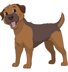 funny purebred border terrier vector image vector image