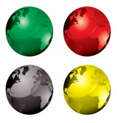 gel globes vector image vector image