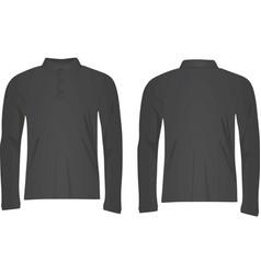 grey polo t shirt long sleeve vector image vector image