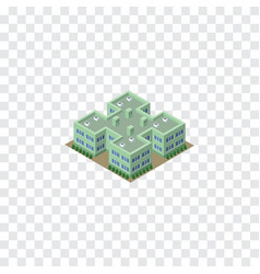Isolated hospital isometric clinic element vector