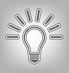 Light lamp sign pencil sketch imitation vector