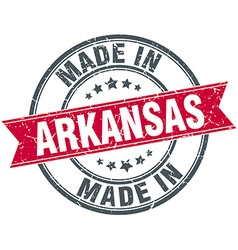 Made in arkansas red round vintage stamp vector