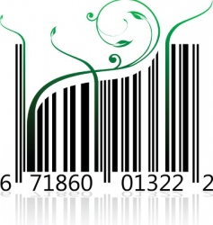 nature barcode vector image vector image