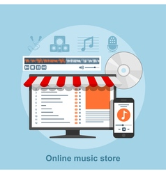 online music store vector image vector image