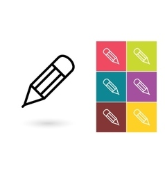 Pencil icon or edit symbol vector image