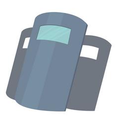 Police shields icon cartoon style vector