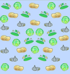 Potatoes cabbage cucumber garlic vector image