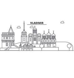 russia vladimir architecture line skyline vector image