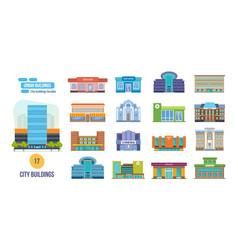 salon post cinema school shop museum library vector image vector image