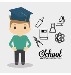 school boy equipment laboratory chemical vector image