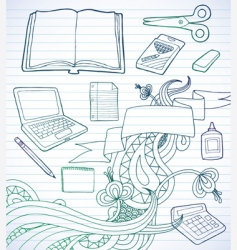 school supply banner vector image