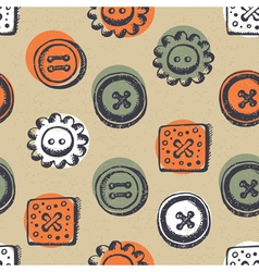 Seamless pattern with buttons vector image vector image