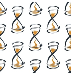 Seamless pattern with vintage hourglasses vector image vector image