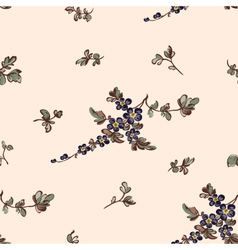 seampless pattern blue flower vector image
