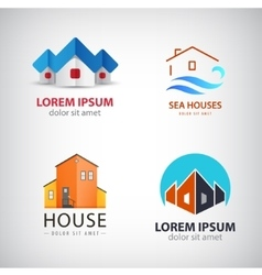 set of house logos vector image vector image