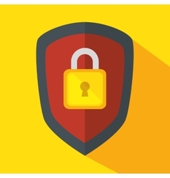 Shield security system icon vector