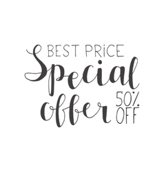 Special offer - hand lettering text vector image vector image