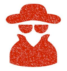 Spy grunge icon vector