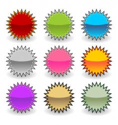 starburst tags vector image vector image