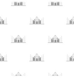 Taj mahal pattern seamless vector