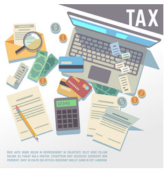 Tax calculation financial report accounting vector