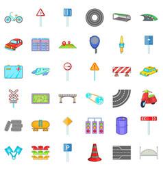 Traffic light icons set cartoon style vector