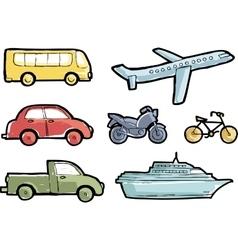 Transport doodle vector image