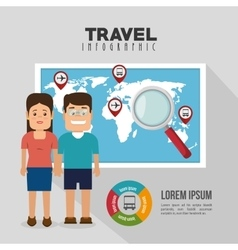 travel infographic design vector image vector image