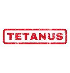 Tetanus rubber stamp vector