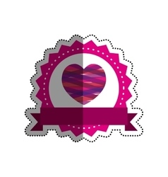 Romantic heart concept vector image