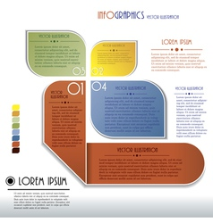 Modern infographics template with numbers vector