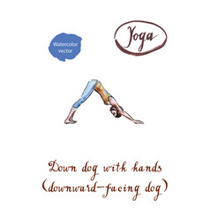 Healthy yoga stretching woman vector