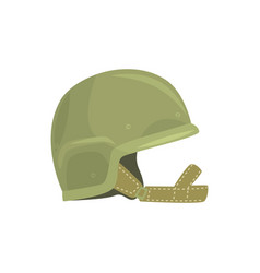 khaki military helmet metallic army symbol of vector image