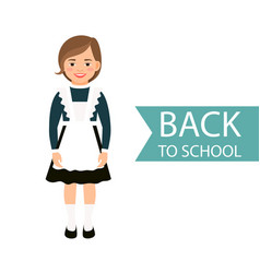 Back to school kid in uniform vector