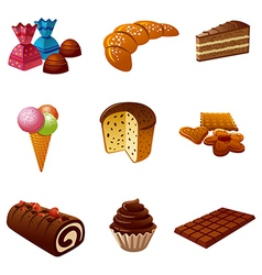 Cakes icons vector