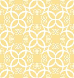 Seamless yellow pattern vector