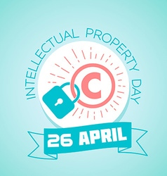 26 april world intellectual property day vector