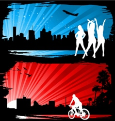 cityscape silhyouettes vector image