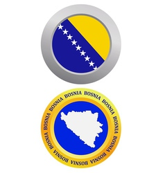 Button as a symbol bosnia vector
