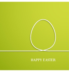 Happy easter card with paper egg vector