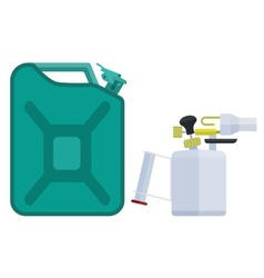 Canister and blowtorch vector