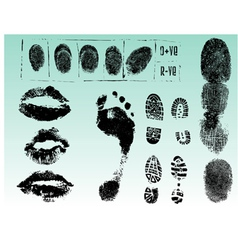 Single black fingerprint - simple monochrome image vector