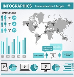 Infographic communication people vector