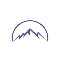 High ice mountain abstract travel logo vector
