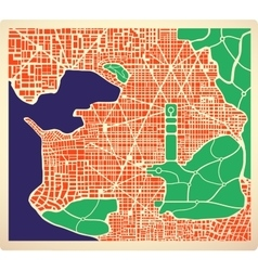 Abstract city plan vector