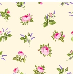 Vintage flower pattern vector