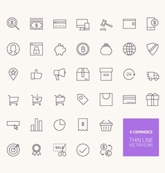 E-commerce outline icons for web and mobile apps vector
