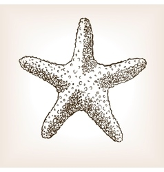 Starfish hand drawn seamless pattern vector