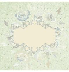 Vintage Floral Rose Background vector image