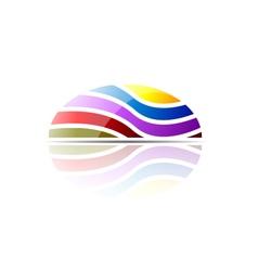Modern dome logo concept vector